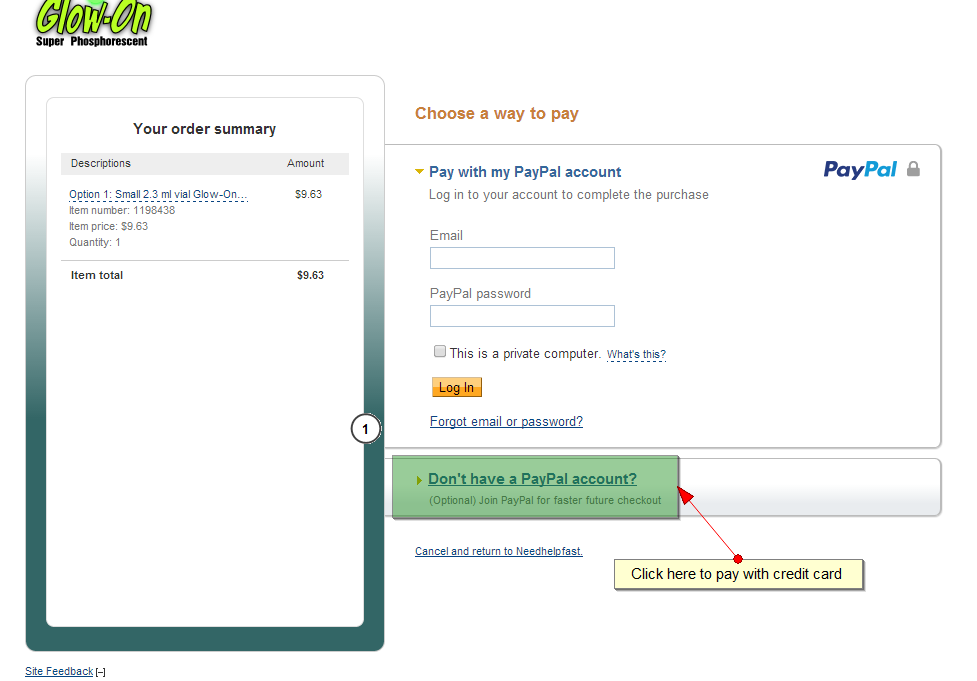 how to change paypal credit card info