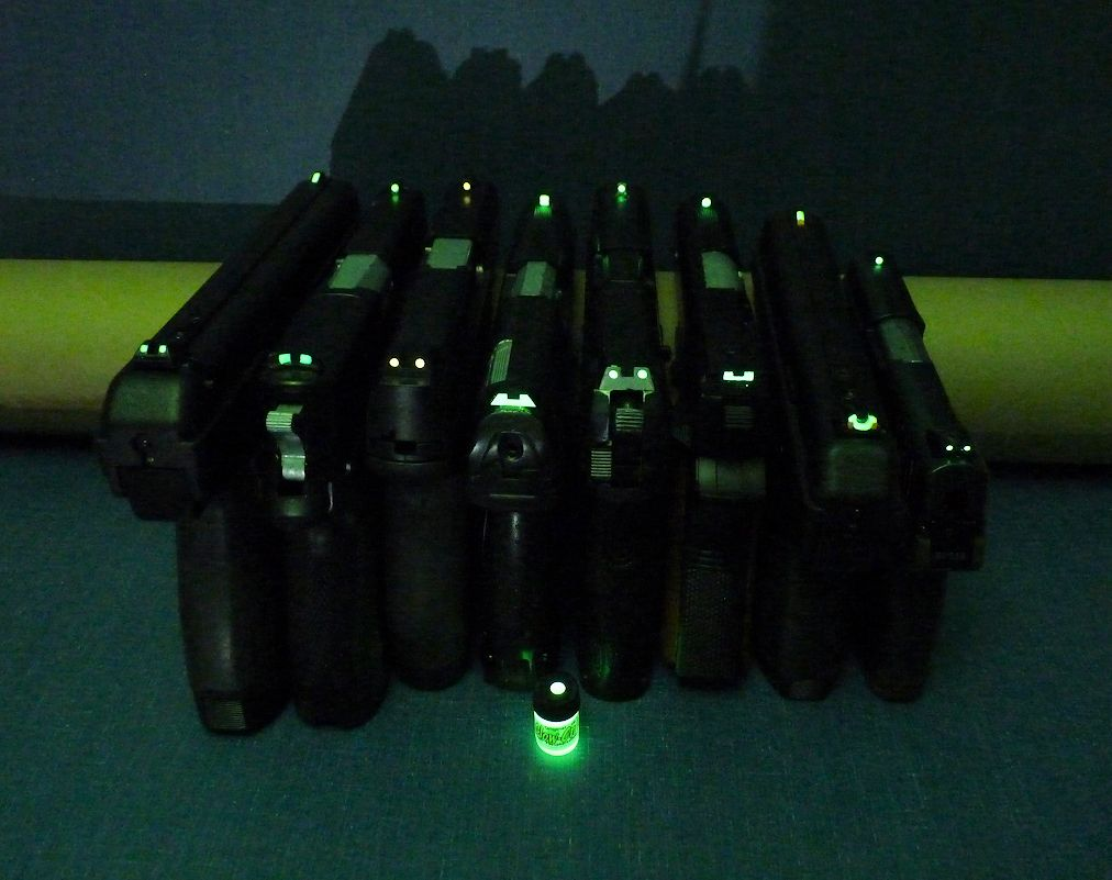 How Many Gun Sights Sets Are In A Bottle Of Glow On