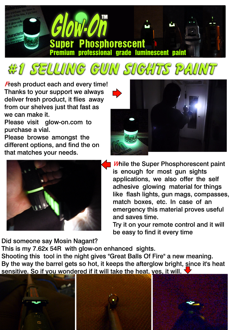 Enhance or repair your gun sights - Sponsor Display