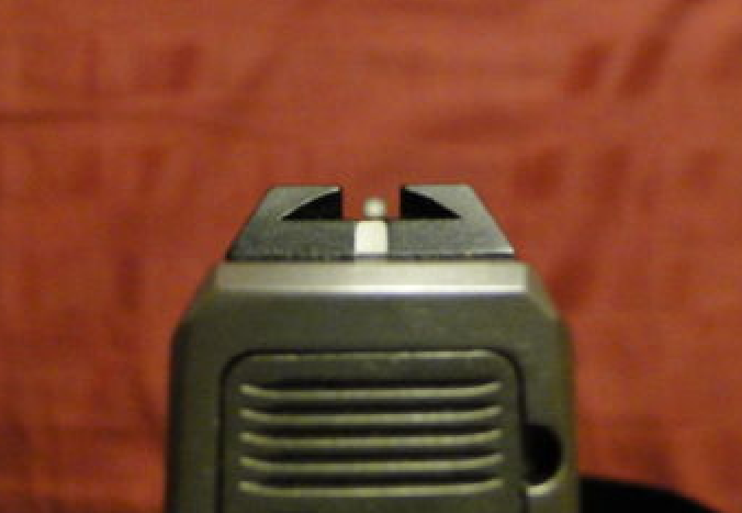 Glow-On sights for a Kahr CM9